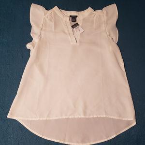 Rue 21 size medium white see through blouse